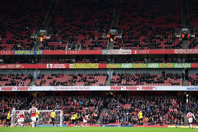 Image result for empty seats arsenal