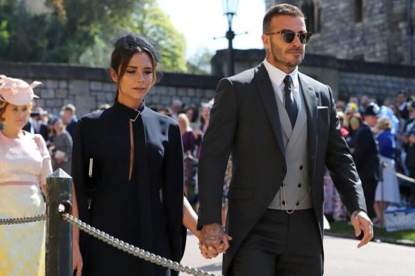 David Beckham Royal Wedding 2018
