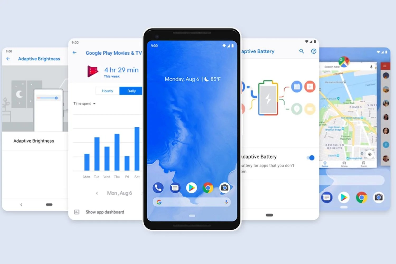 google android pie all