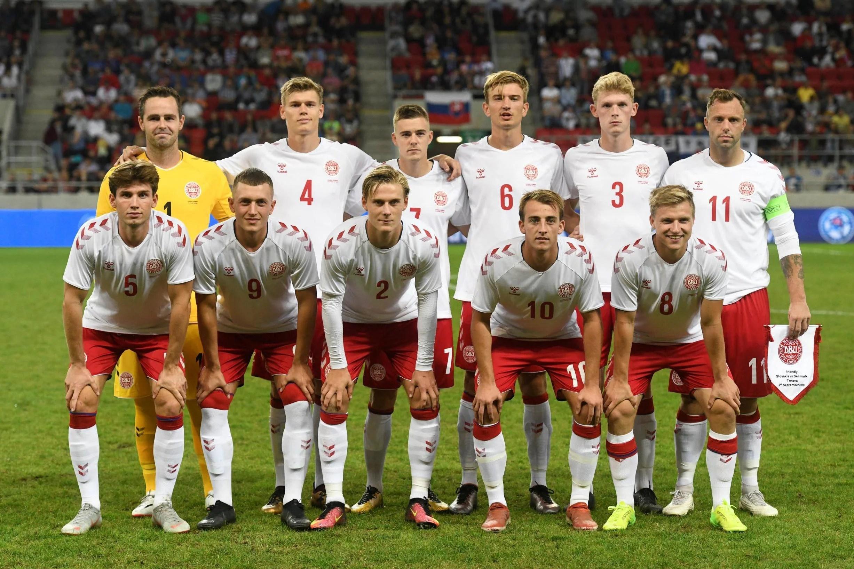 Denmarks lineup vs Slovakia Student and salesman start