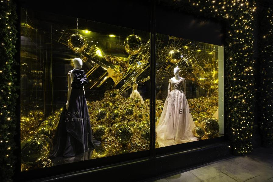Ellie saab christmas window display