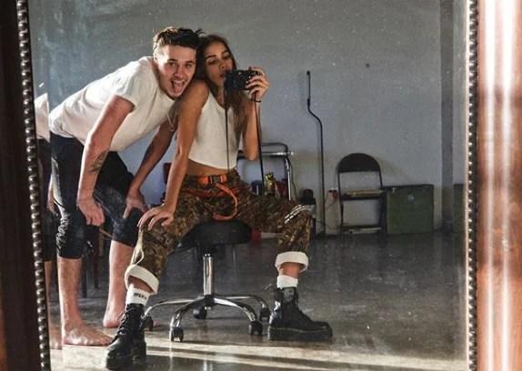 Brooklyn Beckham and Hana Cross inseparable as they enjoy