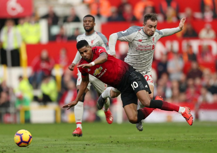 Image result for rashford manchester united 0-0 liverpool 2019 getty