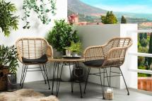 small outdoor table and chair