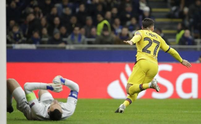Inter Milan 1 1 Fc Barcelona Live Uefa Champions League