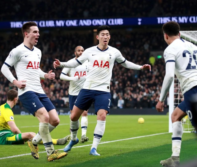 Tottenham   Norwich City Result Heung Min Son Rescues Win
