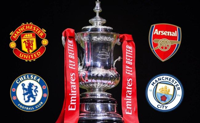 Fa Cup Semi Final Draw In Full Manchester United Vs