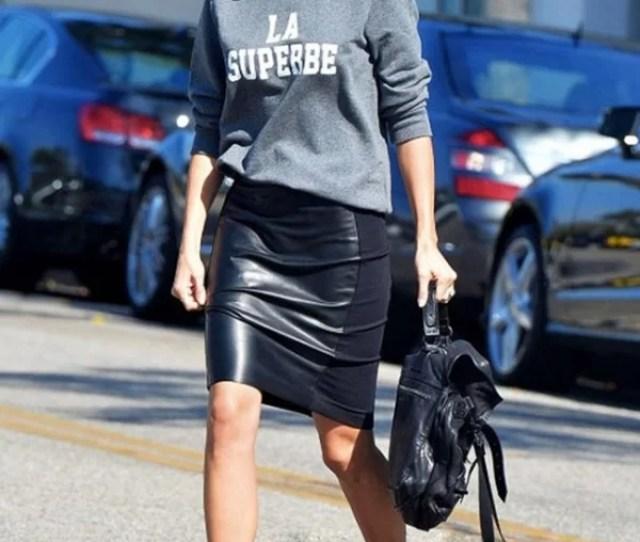 Jamie Chung Skirt Black Heels