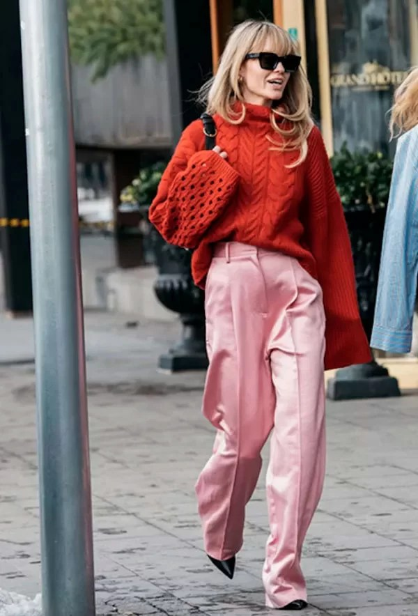 it girl - colorida - color blocking - inverno - street style