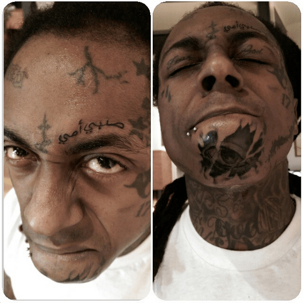 Lil Wayne Face Tattoos 2018
