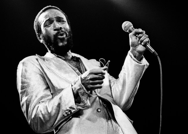 Marvin Gaye performs on stage at De Doelen, Rotterdam, Netherlands, 1st July 1980. (Photo by Rob Verhorst/Redferns)