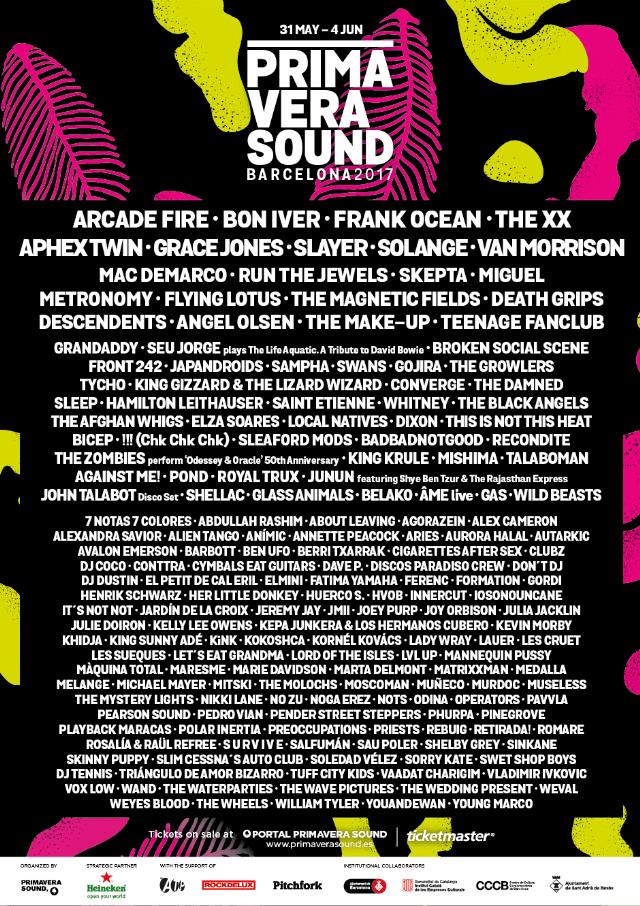 Primavera Sound 2017 Lineup