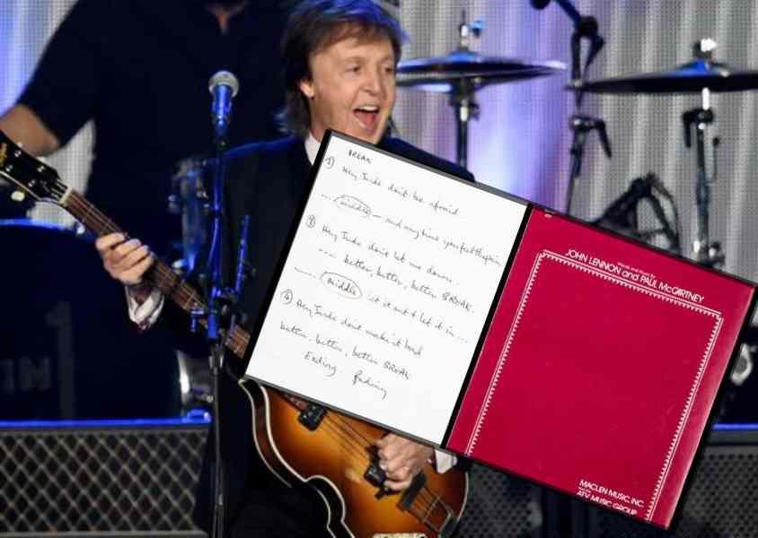 保羅麥卡尼手寫《Hey Jude》歌詞 91萬美元成交 | 星島日報