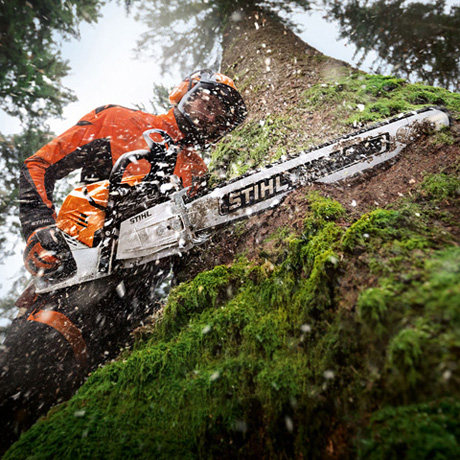 MS 500i  Innovative new chainsaw with electronically controlled fuel injection