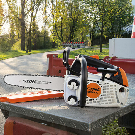 MS 193 T  Compact 13kW arborist chainsaw with 2MIX technology