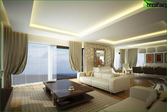 best recessed lighting for living room american furniture chairs ceilings of plasterboard - 175 photos the ideas ...