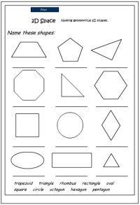 Naming 2D Shapes, Mathematics skills online, interactive