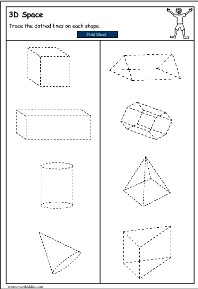 Drawing 3D Objects, Mathematics skills online, interactive