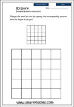 Enlarging graphics using a grid no.2, Mathematics skills
