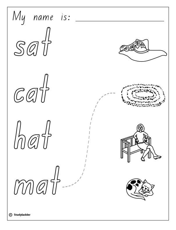 Word Families 1 The Cat Sat Phonics
