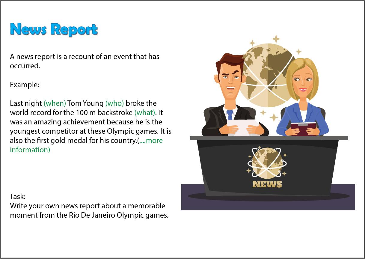 Write A News Report