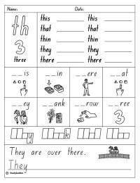 All Worksheets  Th Sound Worksheets - Printable ...