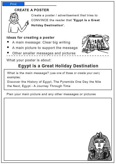 Travel Brochure For Egypt English Skills Online