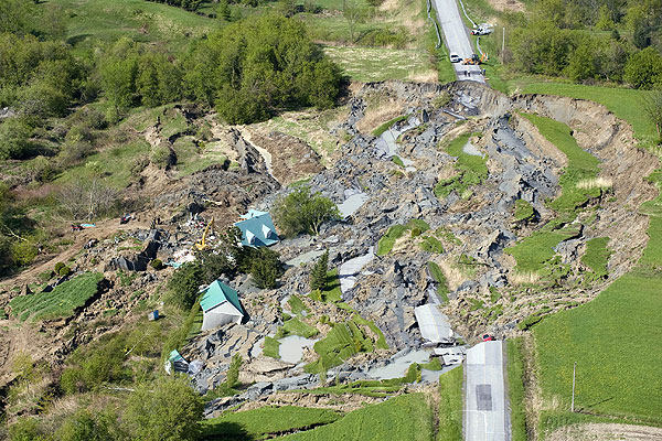 Quebec home destroyed by sinkhole