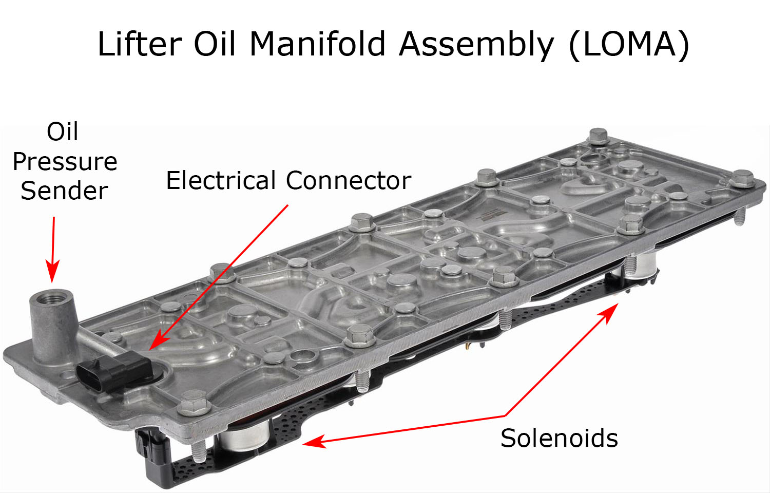 hight resolution of lifter oil manifold assembly loma