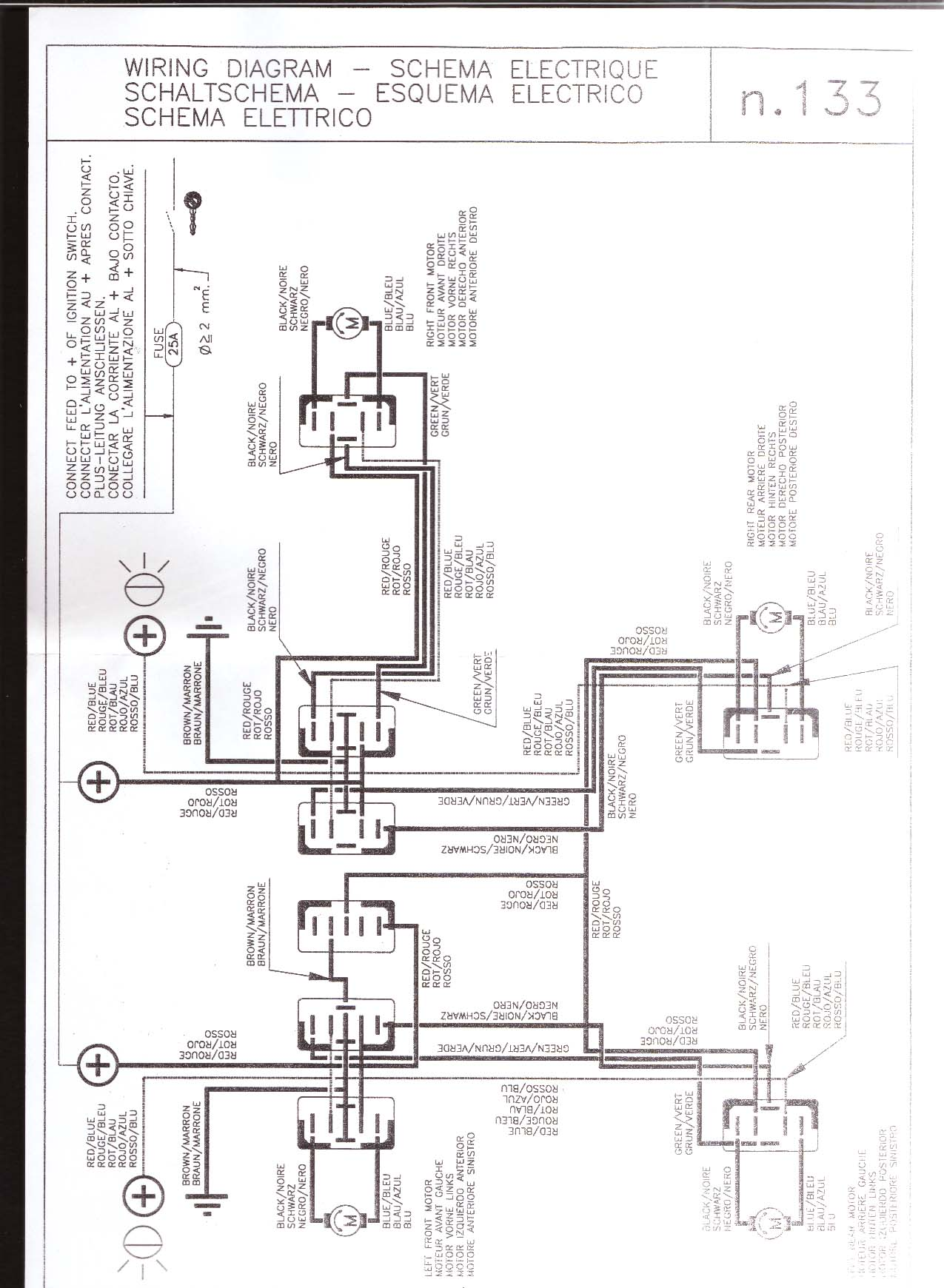 [WRG-2586] 1966 Thunderbird Power Window Wiring Diagram