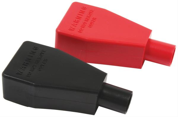 Allstar Battery Terminal Covers Top Post Red Black Pair
