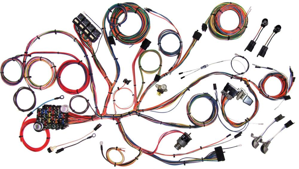 medium resolution of american autowire classic update series wiring harness kits 510125 66 mustang fuse box layout american autowire