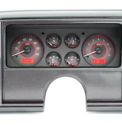 dakota digital vhx series direct fit analog gauge systems vhx 78c mc c r free shipping on orders over 99 at summit racing [ 1600 x 865 Pixel ]