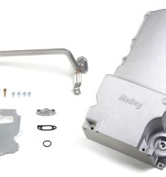 holley gm ls retrofit engine oil pans 302 1 free shipping on orders over 99 at summit racing [ 1600 x 1018 Pixel ]