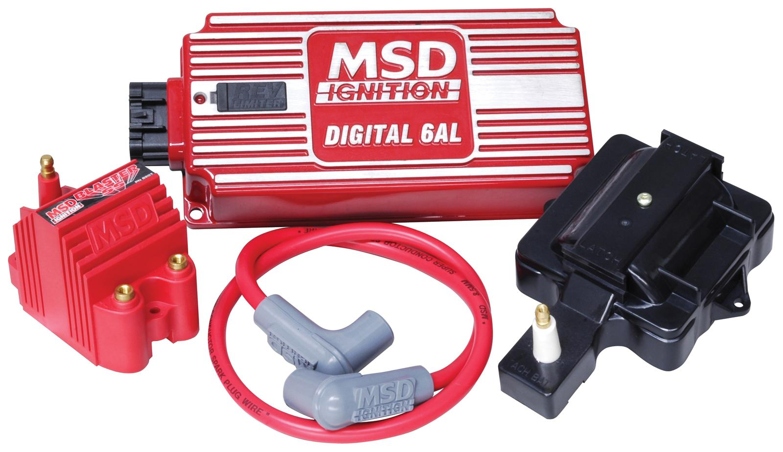 hight resolution of msd super hei kits 85001 free shipping on orders over 99 at rh summitracing com msd 6al box wiring diagram msd 6al 6420 wiring diagram
