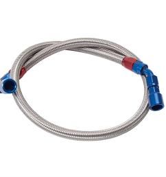russell stainless steel braided fuel hose kits 651111 free shipping on orders over 99 at summit racing [ 1200 x 1200 Pixel ]