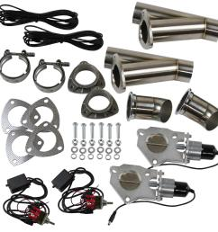 summit racing complete electric exhaust cutout kits sum 670112 2 free shipping on orders over 99 at summit racing [ 1515 x 1515 Pixel ]