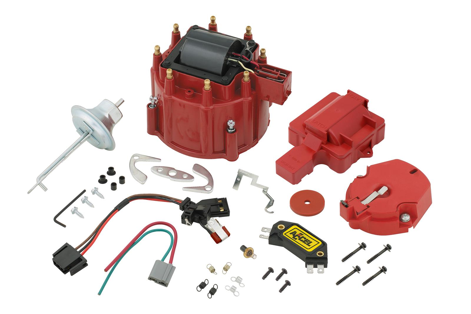 accel hei distributor wiring diagram for house plugs upgrade kit coil cap rotor module gm
