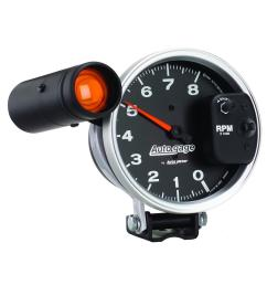 autogage monster shift lite tachometers 233905 free shipping on orders over 99 at summit racing [ 1500 x 1500 Pixel ]