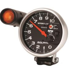 autometer sport comp monster shift lite tachometers 3904 free shipping on orders over 99 at summit racing [ 1500 x 1500 Pixel ]