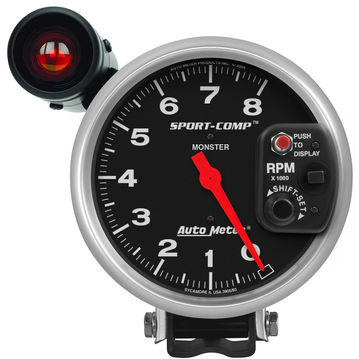 hight resolution of autometer sport comp monster shift lite tachometers 3905 free shipping on orders over 99 at summit racing