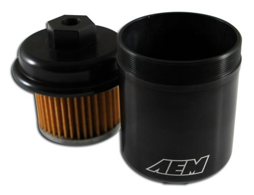 small resolution of aem power high performance fuel filter 25 200bk