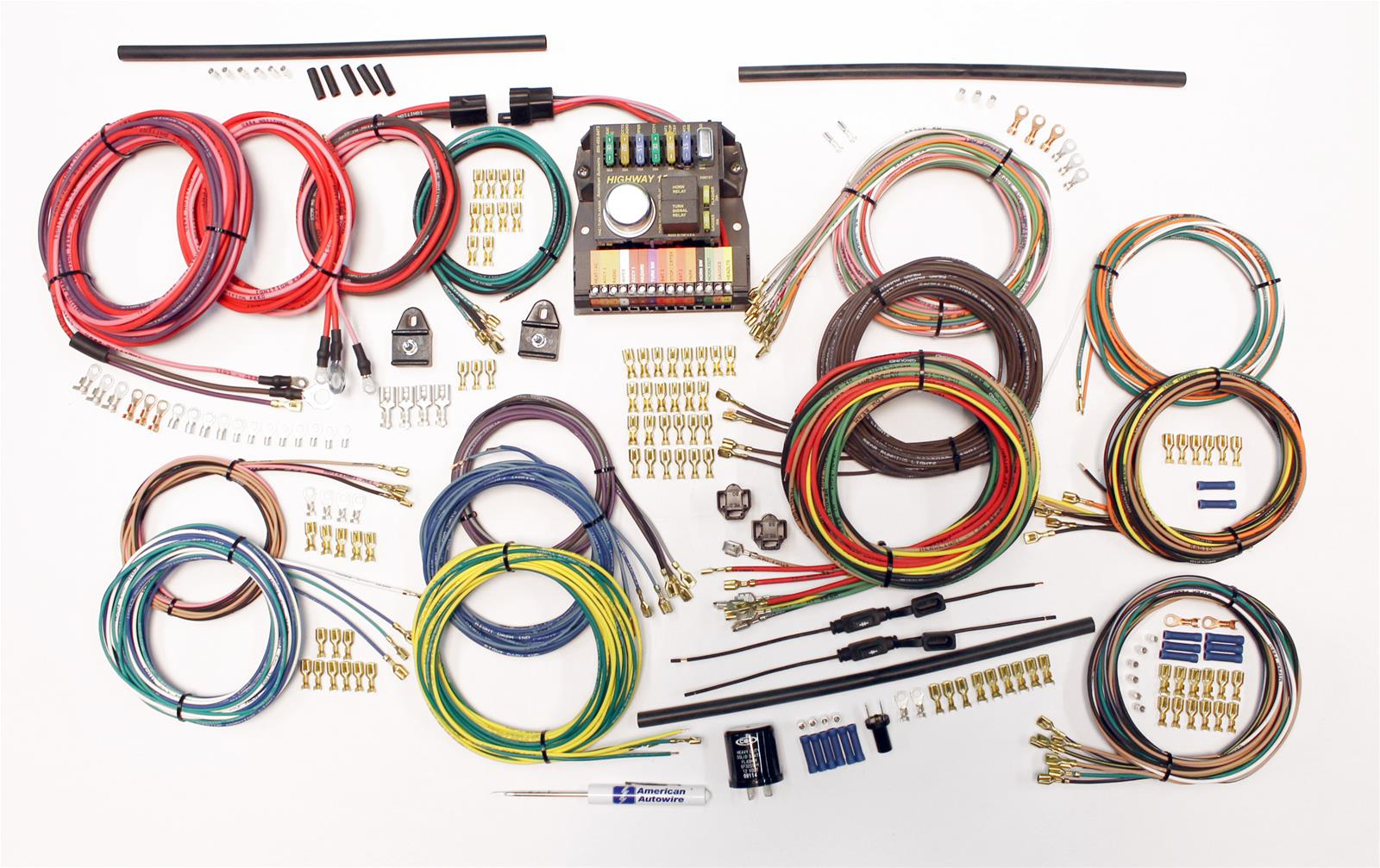 hight resolution of american autowire classic update series wiring harness kits 510419 free shipping on orders over 99 at summit racing