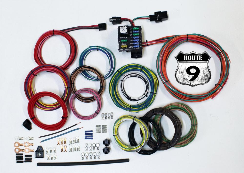 medium resolution of american autowire route 9 universal wiring systems 510625 free shipping on orders over 99 at summit racing