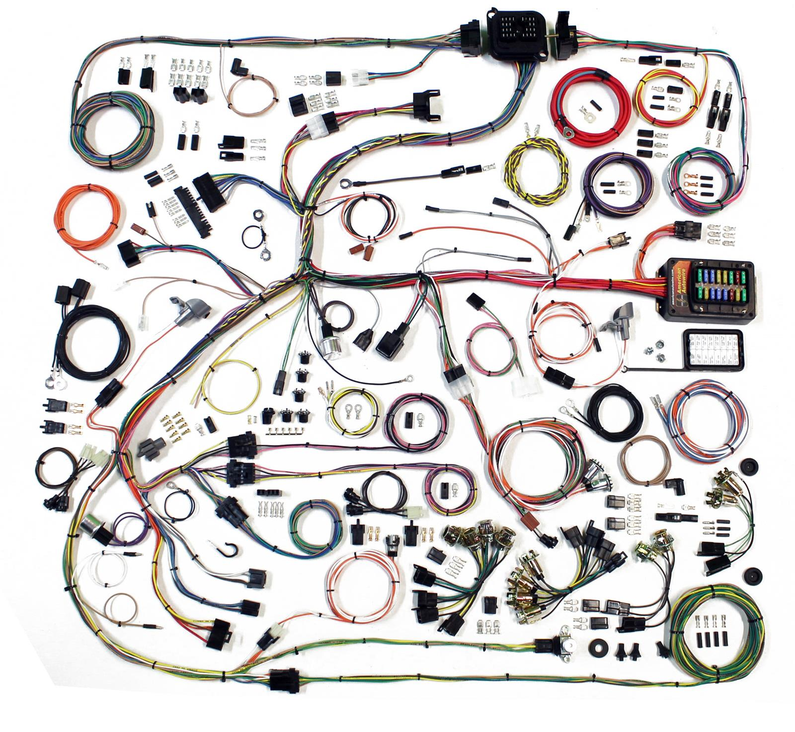hight resolution of american autowire classic update series wiring harness kits 510634 free shipping on orders over 99 at summit racing
