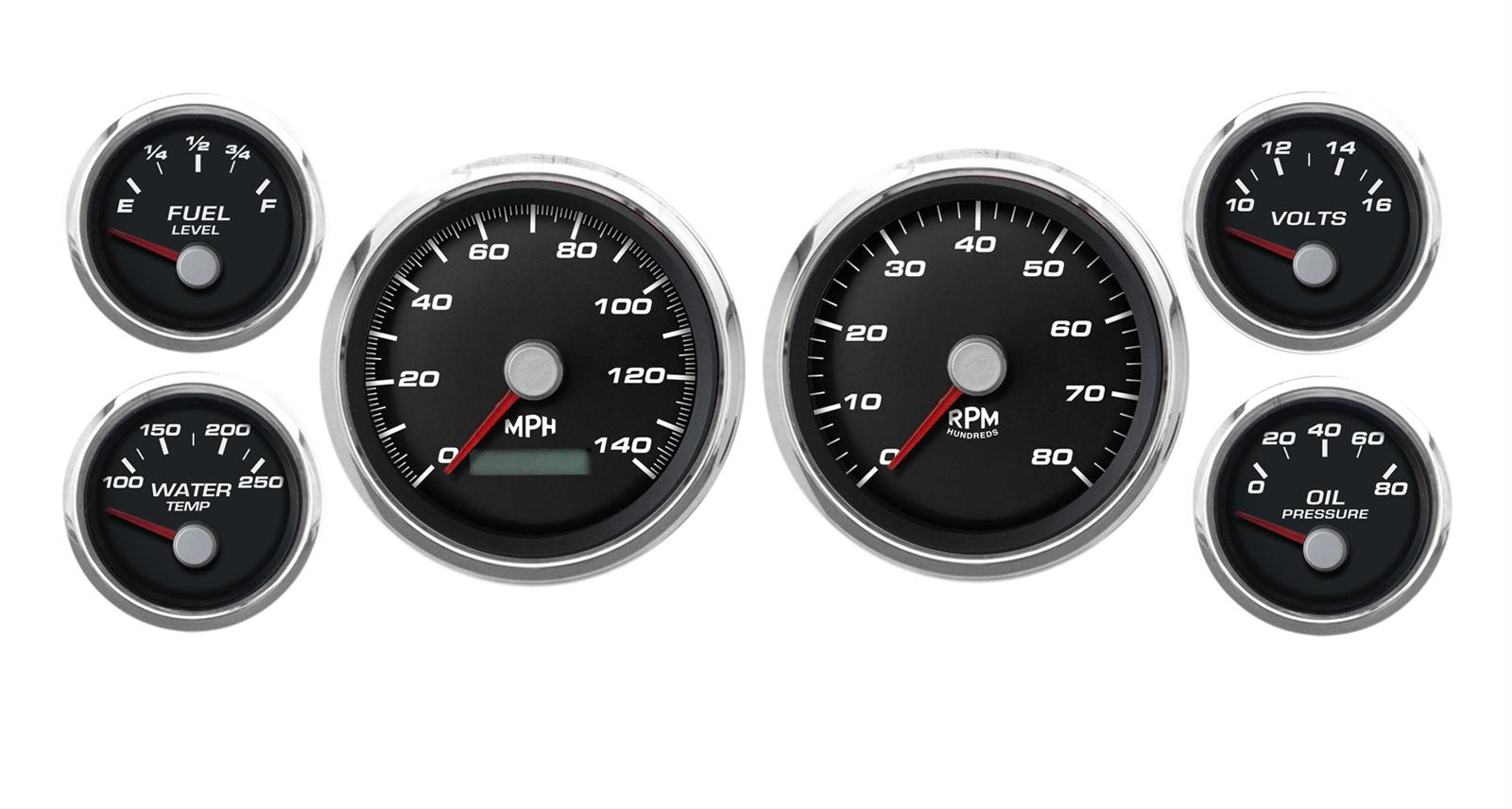 hight resolution of cal custom performance series analog gauge kits cal 220261401 free shipping on orders over 99 at summit racing