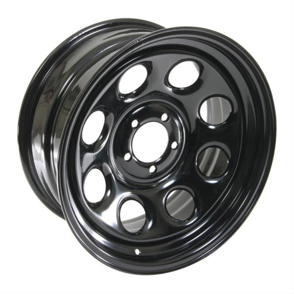 Cragar Soft 8 Black Steel Wheels