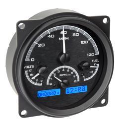 jeep cj7 dakota digital vhx series direct fit analog gauge systems vhx 55j k w free shipping on orders over 99 at summit racing [ 1461 x 1600 Pixel ]