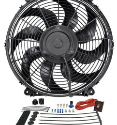 derale tornado universal fans 16516 free shipping on orders over 99 at summit racing [ 850 x 1083 Pixel ]