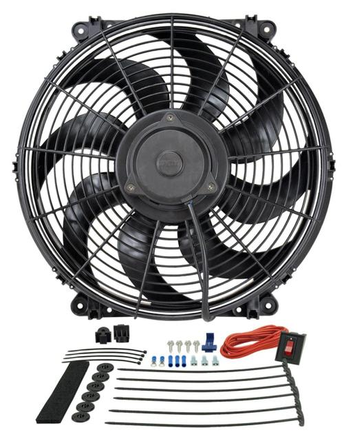 small resolution of derale tornado universal fans 16516 free shipping on orders over 99 at summit racing